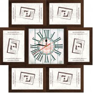 ФоторамкиФоторамки наборы из 6шт + часы - Фоторамка - коллаж + часы f8 - МДФ кор