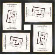 ФоторамкиФоторамки наборы из 4шт - Фоторамка - коллаж  (4 шт 10x15см) - чер.зол.