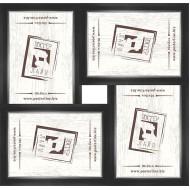 ФоторамкиФоторамки наборы из 4шт - Фоторамка - коллаж  (4 шт 10x15см) - чер. сер.