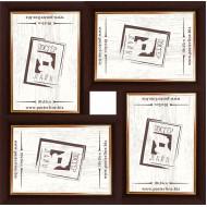 ФоторамкиФоторамки наборы из 4шт - Фоторамка - коллаж  (4 шт 10x15см) - коричневый