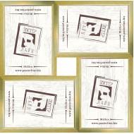 ФоторамкиФоторамки наборы из 4шт - Фоторамка - коллаж  (4 шт 10x15см) - золото