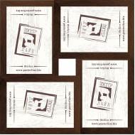 ФоторамкиФоторамки наборы из 4шт - Фоторамка - коллаж  (4 шт 10x15см) - МДФ кор