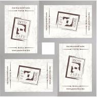 ФоторамкиФоторамки наборы из 4шт - Фоторамка - коллаж  (4 шт 10x15см) - МДФ серебро