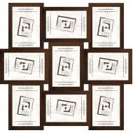 ФоторамкиФоторамки наборы из 9шт - Фоторамка - коллаж  (9 шт 10x15см) - МДФ кор