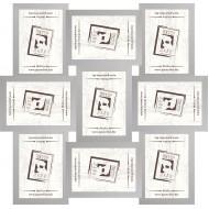 ФоторамкиФоторамки наборы из 9шт - Фоторамка - коллаж  (9 шт 10x15см) - МДФ серебро