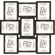 ФоторамкиФоторамки наборы из 9шт - Фоторамка - коллаж  (9 шт 10x15см) - чер.зол.