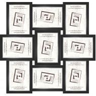 ФоторамкиФоторамки наборы из 9шт - Фоторамка - коллаж  (9 шт 10x15см) - чер. сер.