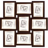 ФоторамкиФоторамки наборы из 9шт - Фоторамка - коллаж  (9 шт 10x15см) - коричневый