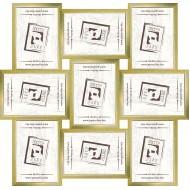 ФоторамкиФоторамки наборы из 9шт - Фоторамка - коллаж  (9 шт 10x15см) - золото