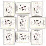 ФоторамкиФоторамки наборы из 9шт - Фоторамка - коллаж  (9 шт 10x15см) - белый