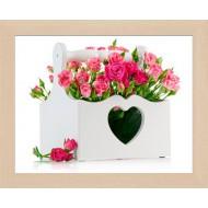 ЦветыЦветы Постер в раме 20х25 - Фото постер в раме 2 см - А389_20x25