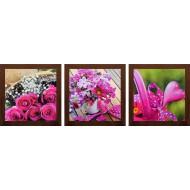 ЦветыЦветы 18x54 - Модульная картина Т93 - Размер 18х54