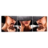 Картины на холстеКартины на холсте Люди - Модульная картина 34_31х93