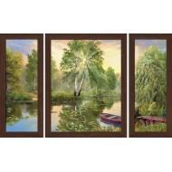 Картина-сувенир - Триптих K118 50х80
