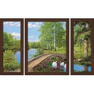 Картина-сувенир - Триптих K124 50х80