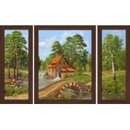 Картина-сувенир - Триптих K144 50х80