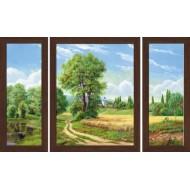 Картина-сувенир - Триптих K168 50х80