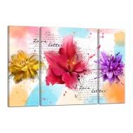ЦветыМодульные картины из 3 частей 80x50 см - Модульная картина TRP976 (80x50)