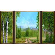 ГородаГорода 50x80 - K105 - Триптих