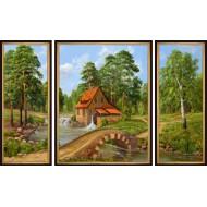 Картина-сувенир - K144 - Триптих