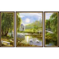 ГородаГорода 50x80 - K297 - Триптих
