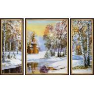 ГородаГорода 50x80 - K322 - Триптих