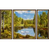 ГородаГорода 50x80 - K356 - Триптих