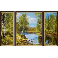 ГородаГорода 50x80 - K361 - Триптих