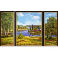 ГородаГорода 50x80 - K455 - Триптих