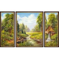 ГородаГорода 50x80 - K76 - Триптих